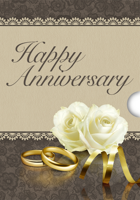 Anniversary Rose Custom Gift Card Design for Shopify Stores