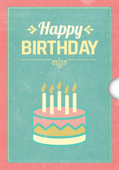 Customizable birthday Gift Card Design for Shopify