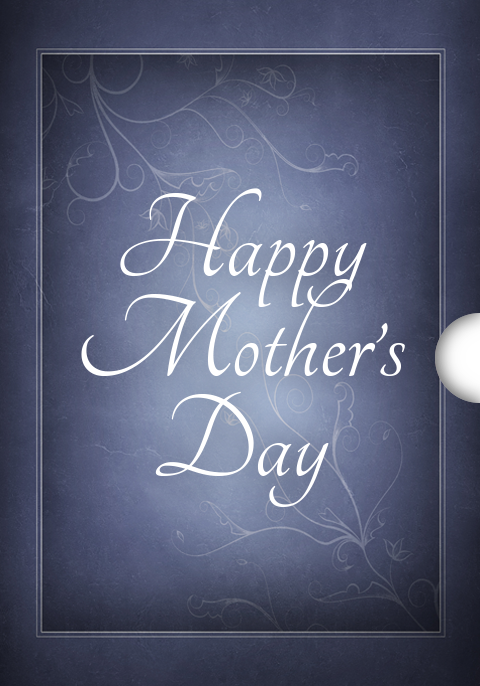 Blue Frame Happy Mothers Day Personalized Digital Gift Cards for Shopify