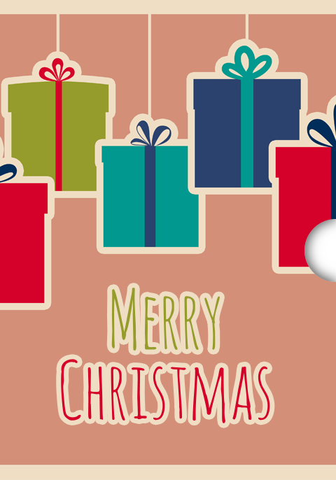 Customizable Digital Christmas Gift Card Design