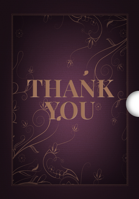 Dark Elegance Thank You Customizable Gift Cards Shopify App