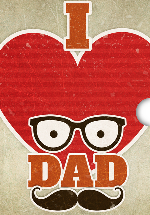 Fathers Day Gift Card Design